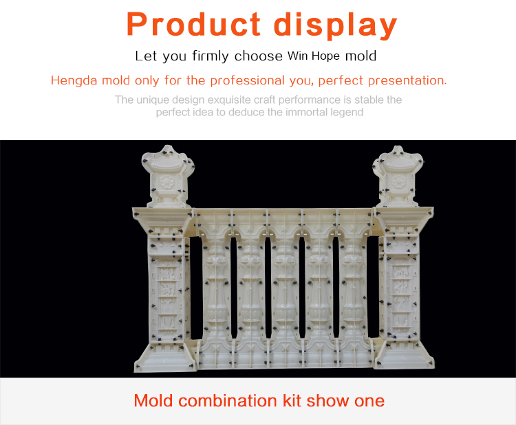 Home decor ABS plastic concrete baluster balustrade handrail plastic molds