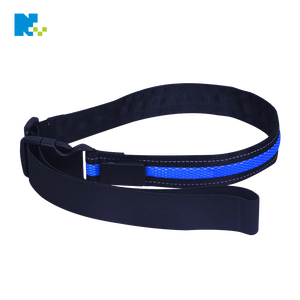 oem custom printed fashion design waist brand glowing elastic led waist belt bag safety running belt
