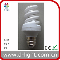 Full Spiral Series T3 Energy Saving Lamps 15W E27 Warm White Natural White Cool White