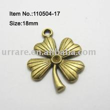 Bronze Color Flower Shape Jewelry Alloy Charm