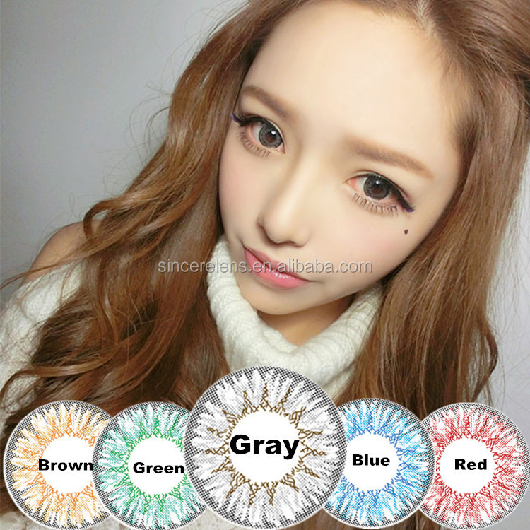 korea whoesale magic color brown blue gray red hazel cheap green colored contacts lenses - Colored Contacts Hazel