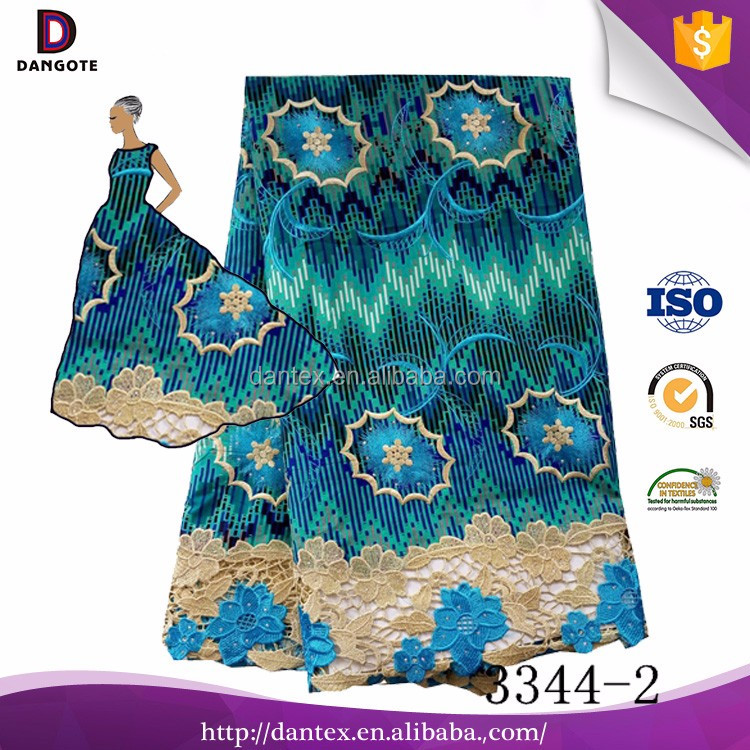 2017 Faashion embroidery flower beaded african net lace fabric african tulle lace with stones on it