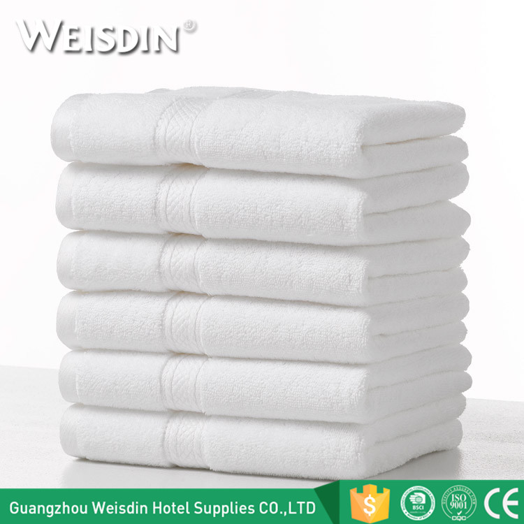 Wholesale white clean soft dobby 100% cotton terry face towel wash cloth