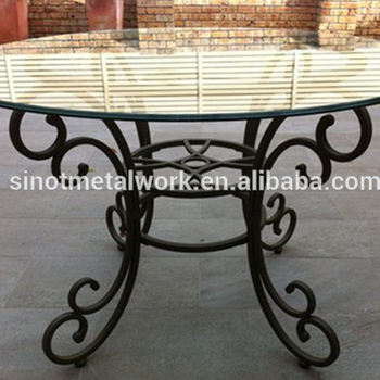 Decorative Metal Table Base Solid Iron Dining Table Leg With Round Marble  And Glass Pedestal - Buy Metal Dining Room Table Legs,Designer Metal Iron  ...