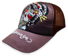 Japanese Geisha Designer Trucker Hat ,promotional customized cotton and mesh trucker hat&cap with decorative logo
