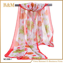 Factory wholesale digital print 100% silk scarf for custom design