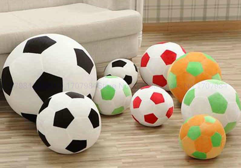 Bola de peluche juguetes para Bebé de peluche juguete de fútbol custom  relleno felpa 332f351dff9fb