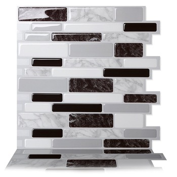 Amazon Hot Sale Wall Tiles Long Marble Design backsplash sticker Peel and Stick