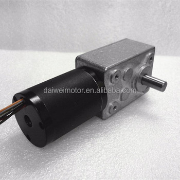 Factory Supply Long Life Low Noise BLDC 24V Worm Gear Motor DW450JSX38-42RBL60-2425