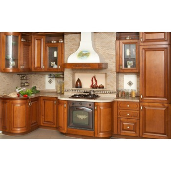 Red Cherry Wood Kitchen Cabinets With Granite Countertop Buy