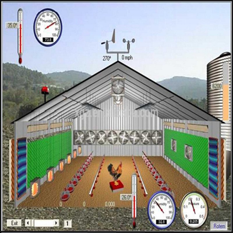 Economic prefab poultry house for chicken/hen