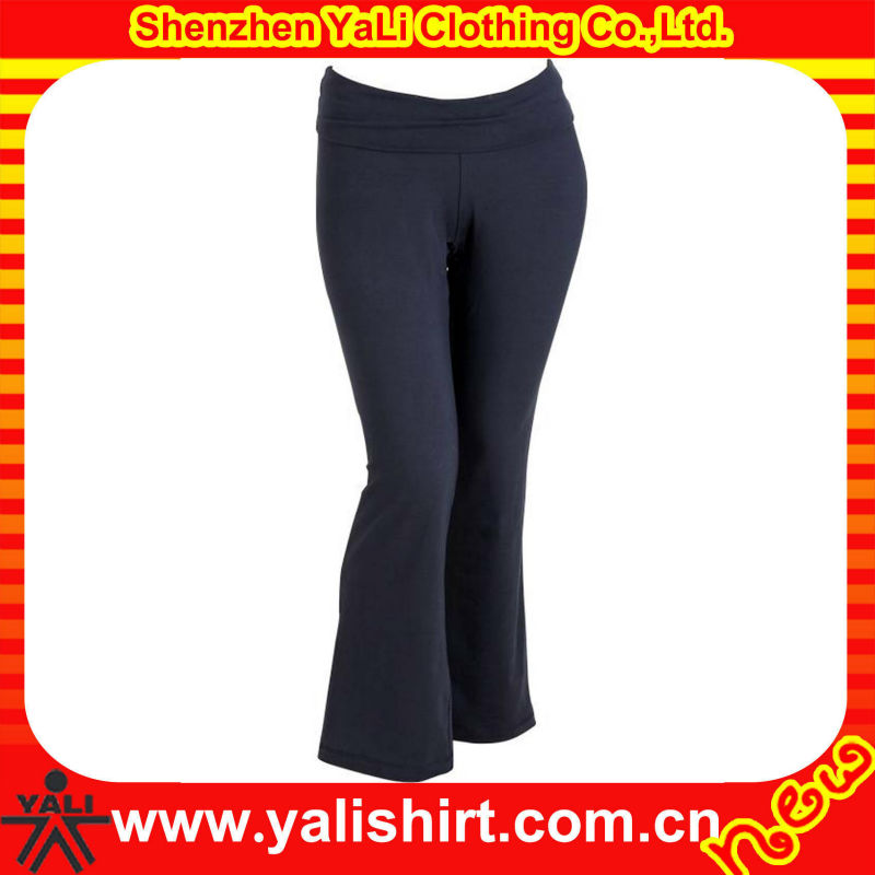 New fashion comfortable high quality mix size quick dry black cotton/spandex tight ladies ballroom dance pants