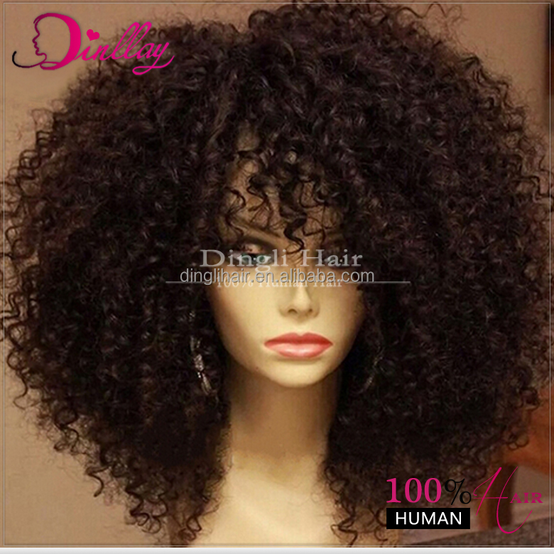 Afro Kinky Curly Half Wig Crochet Braids With Human Hair Hair Bulk ...