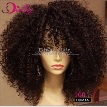 Afro Kinky Curly Half Wig Crochet Braids With Human Hair Hair Bulk