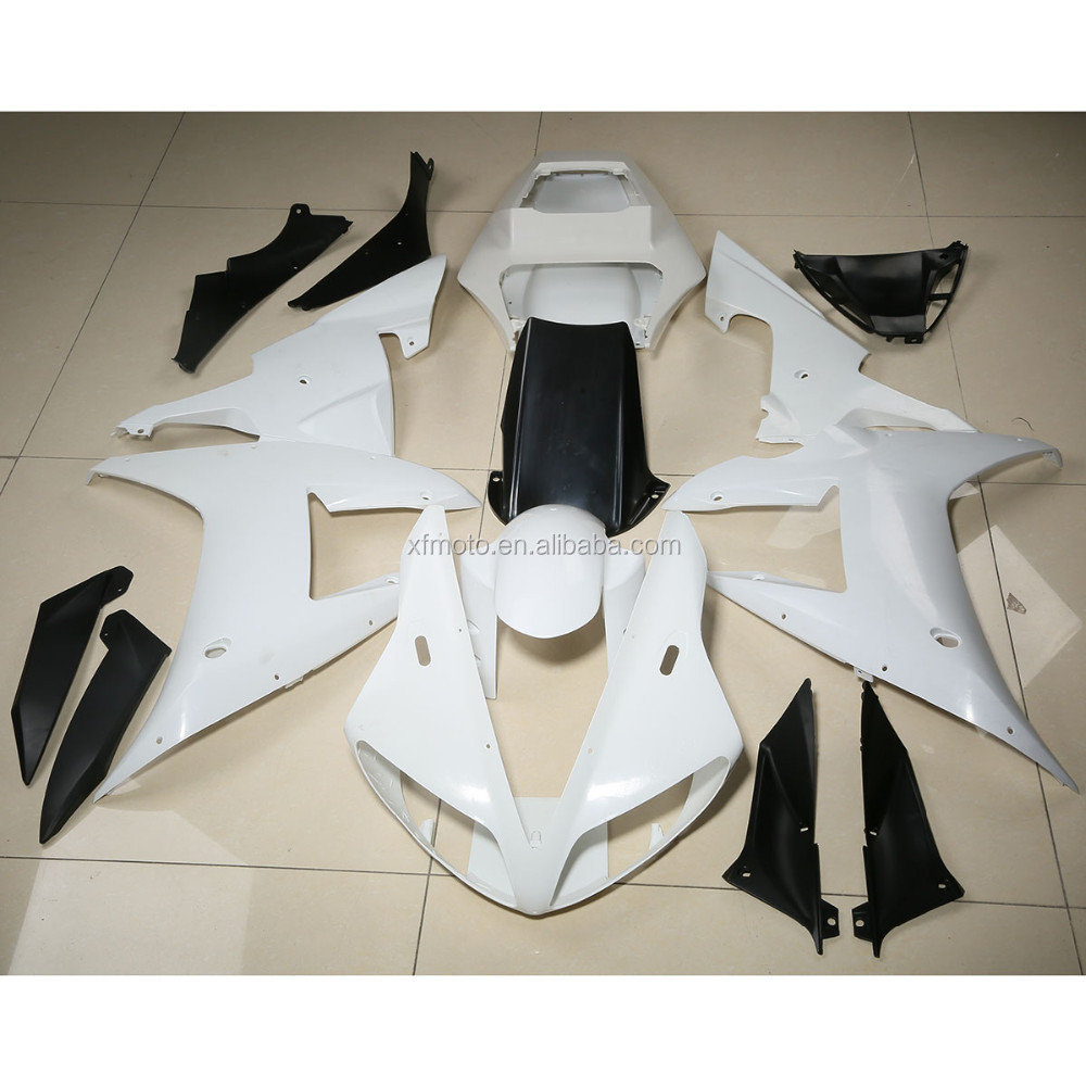 Green-L Unpainted Motorcycle Upper Front Fairing Cowl Nose Fit for Yamaha YZF R1 2000-2001