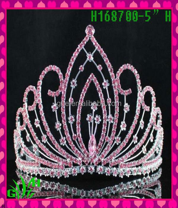 New Designs Rhinestone Royal Accessories Pink Tiara Crown A Tiara ...