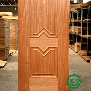 melmine paper faced MDF/HDF moulded door skin made in China