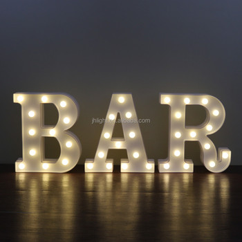 Bar Illuminated Marquee Sign Lighted Led Word Pre Lit