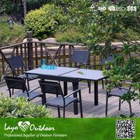 In time Delivery best quality patio 6 seat dining table