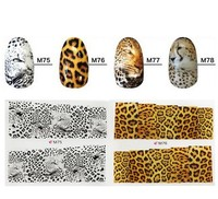 Tiger Stripes Leopard Print Water Transfer Nail Sticker Full cover Nail Sticker