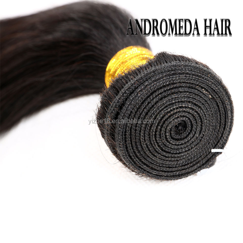 Indian Human Hair Bundles Black Star Straight Hair Weave Wholesale 100% Virgin Hair Weave 10 to 28 inch Natural Black Color