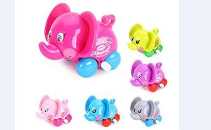 ZUINIUBI Small Clockwork toys 6pcs cute cartoon elephant Baby learning to crawl toys child baby early education learning toys for boys girls 0-1 year old baby