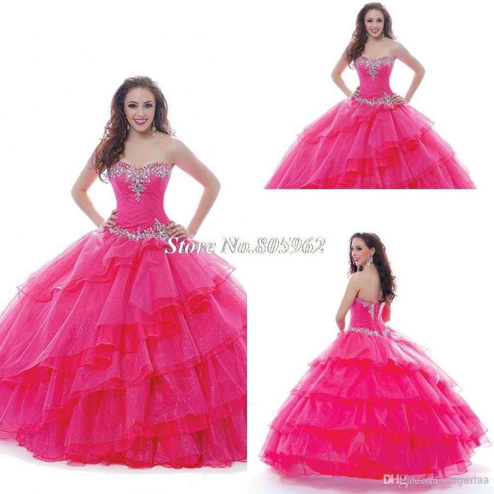 Buy 2015 Fashion Sweetheart Quinceanera Dresses Crystals Beaded Ruffles  Lace Up Ball Gowns Vestidos De 15 Anos Sweet 16 Dresses QD75 in Cheap Price  on ... 5a0dd2c1b365