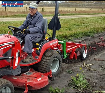 small tractor with tiller