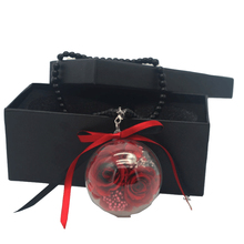 Preserved Fresh Rose Flower 2 roses In acrylic ball For Car ornament