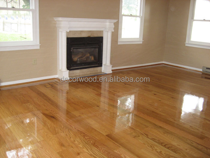 Luxurious Light Color High Gloss Oak Wood Flooring Buy