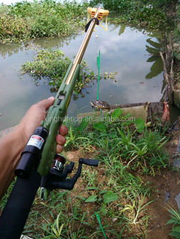 By birdking shot fishing rod of hunting birds fish gun for Slingshot fishing pole