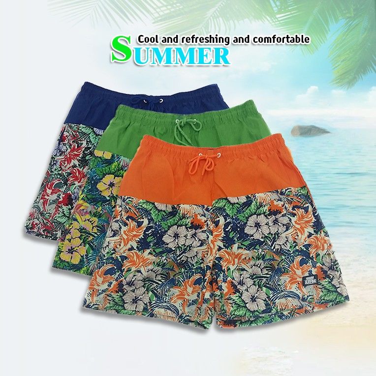 SUMMER SWIM TRUNKS WITH NET MESH LINING