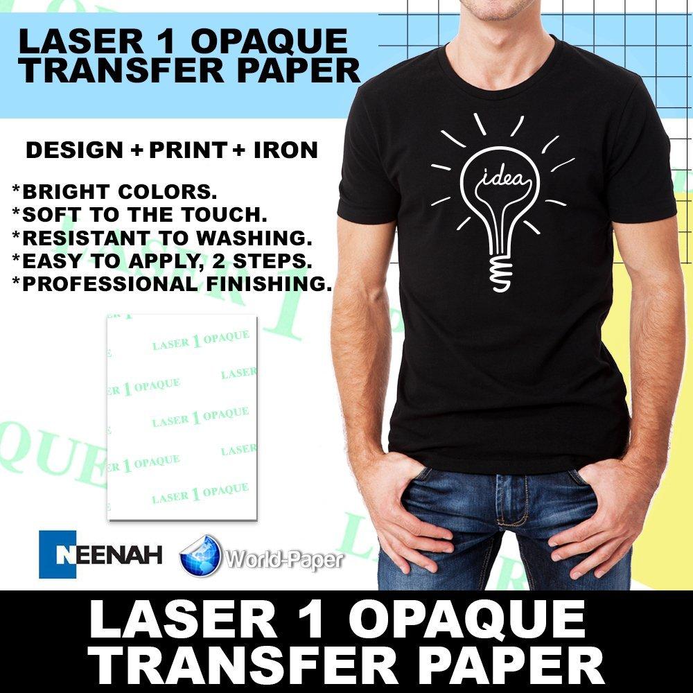 Inkjet Iron On T Shirt Fabric Transfer Paper A4 200pk Dark Fabrics