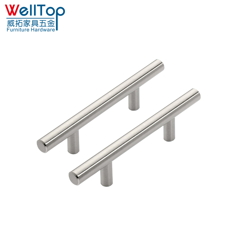 Kitchen cabinets stainless steel glass door drawer cabinet round pull handles 10*200*128mm vt-01.001