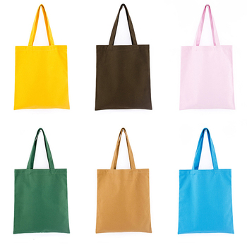 639cfd813 Colourful black white red green yellow blue purple pink cotton tote  shopping bag
