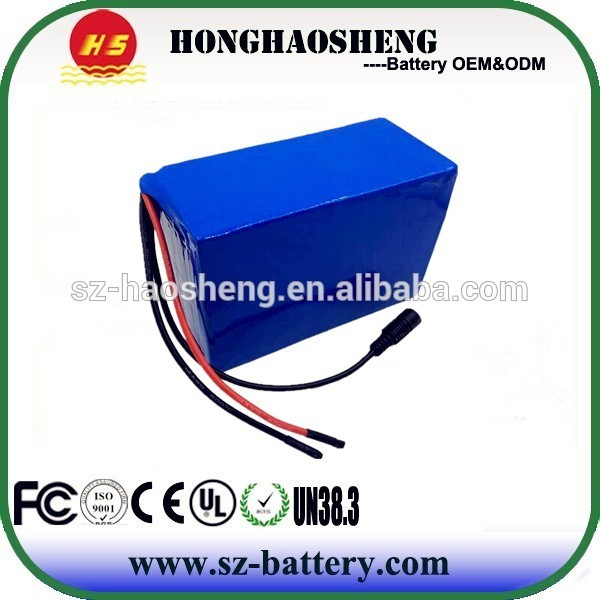 Electric bike battery rechargeable li-ion battery pack LiFePO4 36v 15ah / 36v 20ah