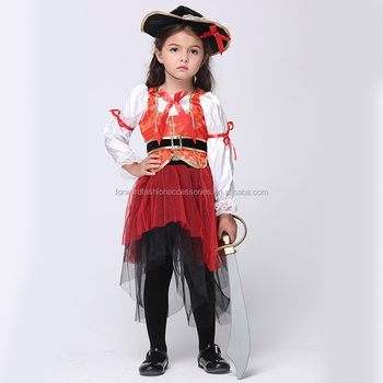 Fantasy Child Elegant Steampunk Pirate Cosplay Costume