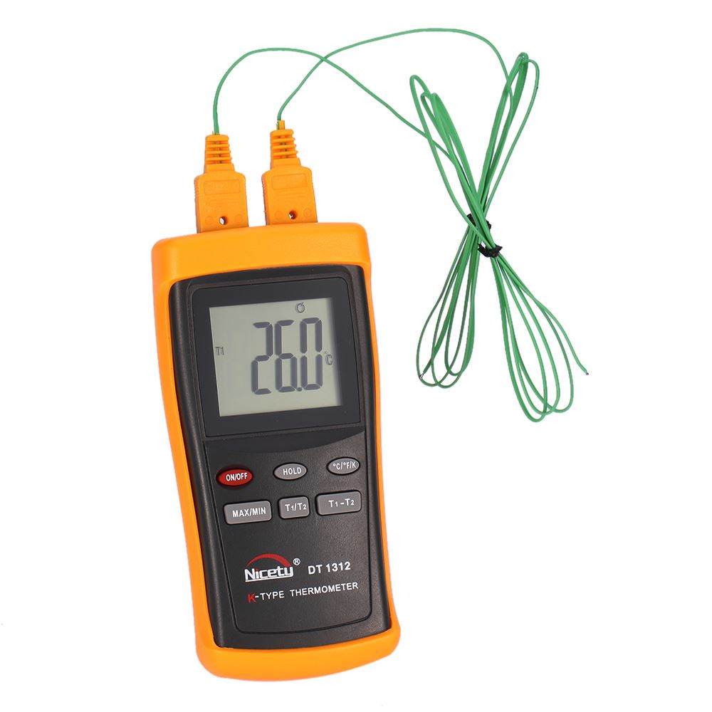 Handheld Digital Thermometer 2 CH <strong>Temperature</strong> Meter K Type termometro digital Thermocouple Sensor -200~1370 C thermal regulator