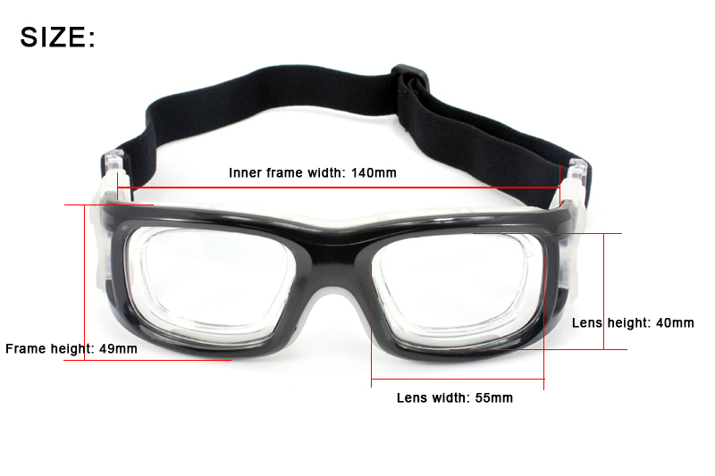 ac4392391c Panlees wholesale man sports prescription glasses clear frame basketball  dribble safety glasses rx optical insert glasses