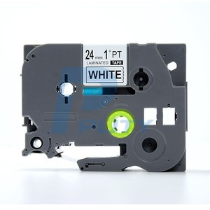 PUTY 24mm Black on White TZ251 TZe251 TZe 251 TZe-251 Label Tapes Compatible for P-touch Typewriter