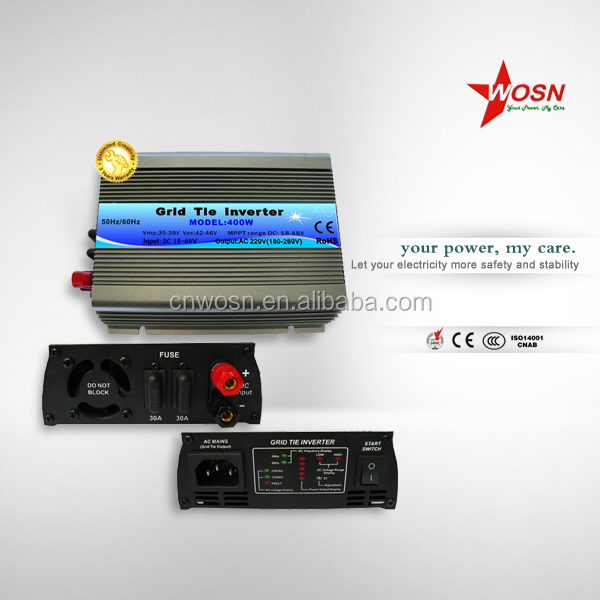 mppt technology 24v 220v grid tie inverter 400w