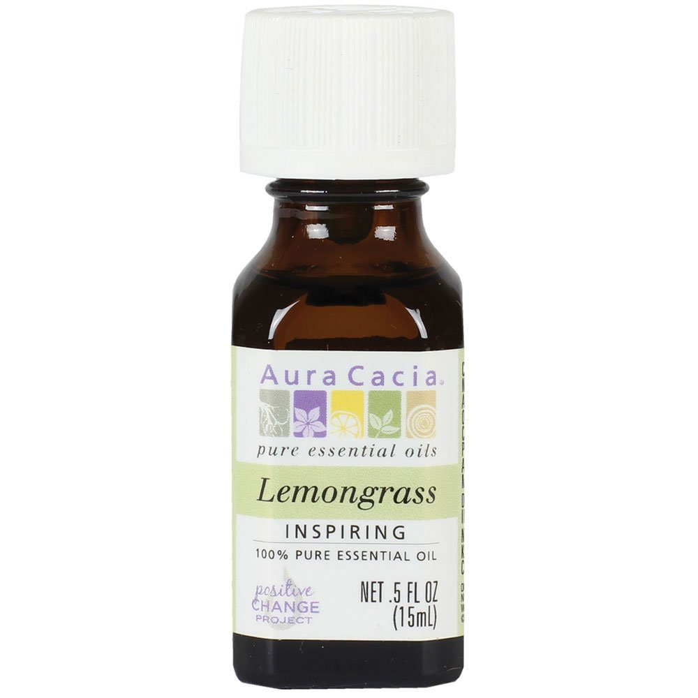 Aura Cacia Essential Oil, Inspiring Lemongrass, 0.5 fluid ounce