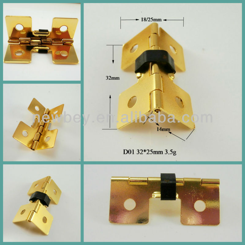 Hotsale small jewelry box hinges spring hinges D01 with four holes
