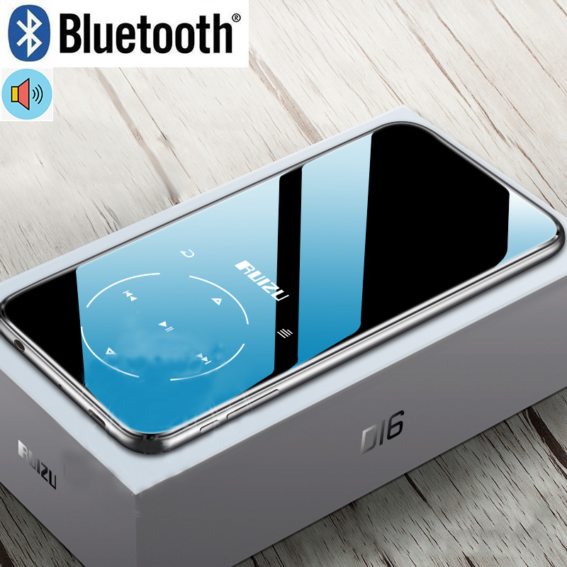 RUIZU D16 Metal Bluetooth MP3 <strong>Player</strong> Portable Audio 8GB Music <strong>Player</strong> with Built-in Speaker FM Radio,Recorder,E-Book,Video <strong>Player</strong>