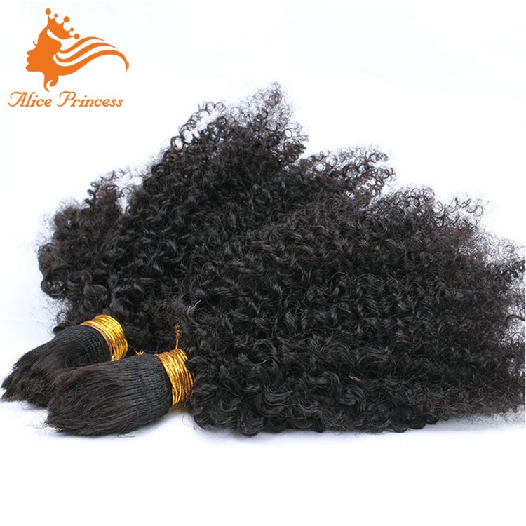Afro Kinky Bulk Hair For Braiding 3Pcs/Lot Virgin Human Hair Afro Kinky Curly Hair Bulk Extensions Without Weft