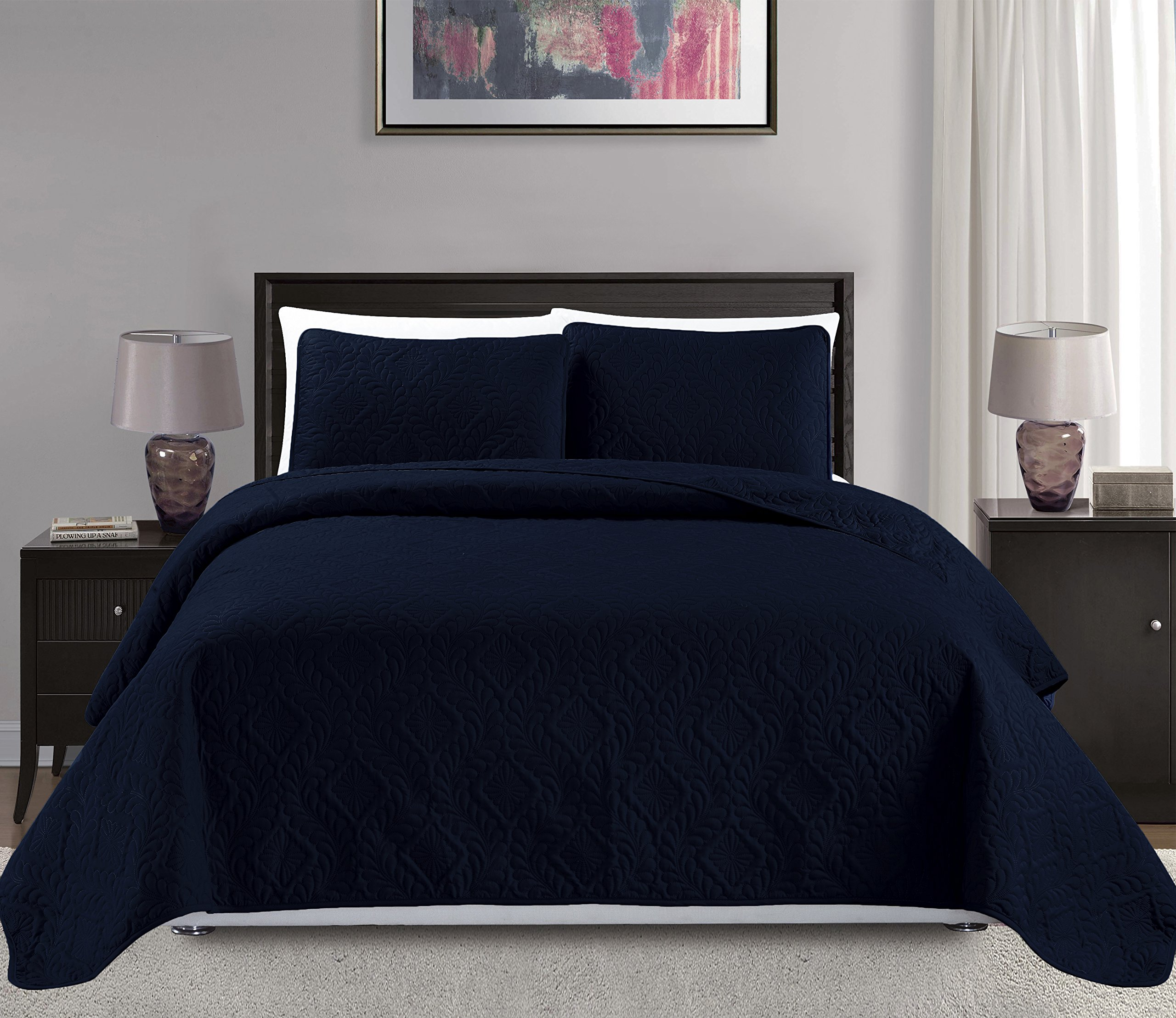 Cheap Navy Bedspread King find Navy Bedspread King deals on line at