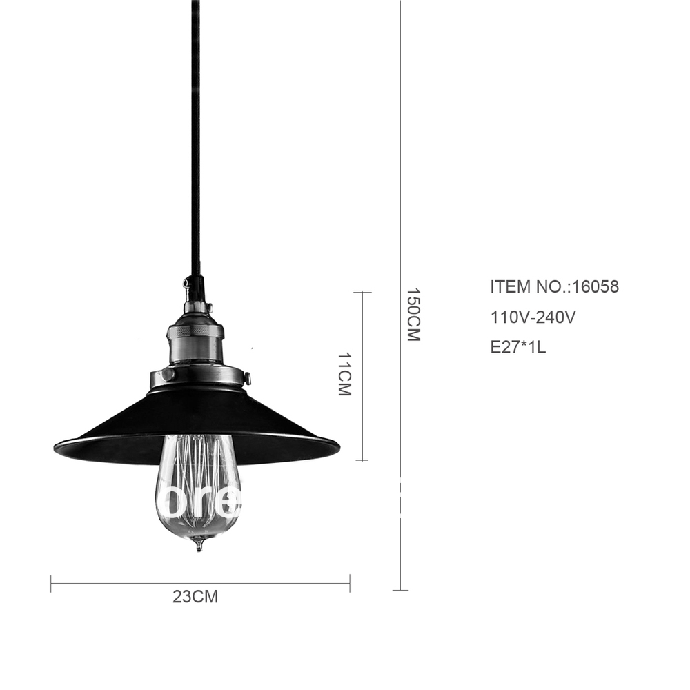 Aicco Vintage Eetkamer Retro Lamp Loft Hanger Industria Verlichting ...