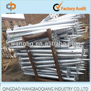 Hot sales hot dipped galvanized earth anchors for fence and house building