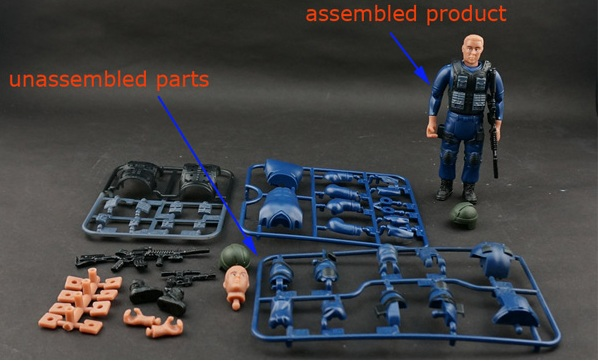 Assembly Soldier Figuer Models Promotional Gifts 8 figuer