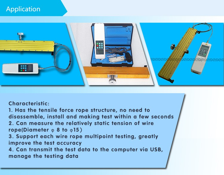 1100Lb digital elevator wire rope tension tester